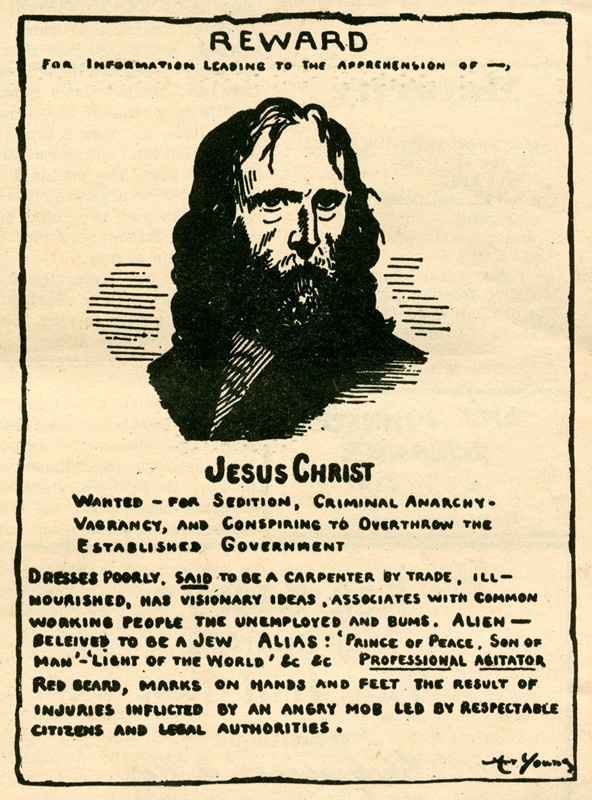 jesus-christ-wanted-for-sedition-criminal