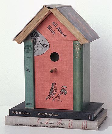Старые книги = новый дом птицы.  через Курчавый с книгой