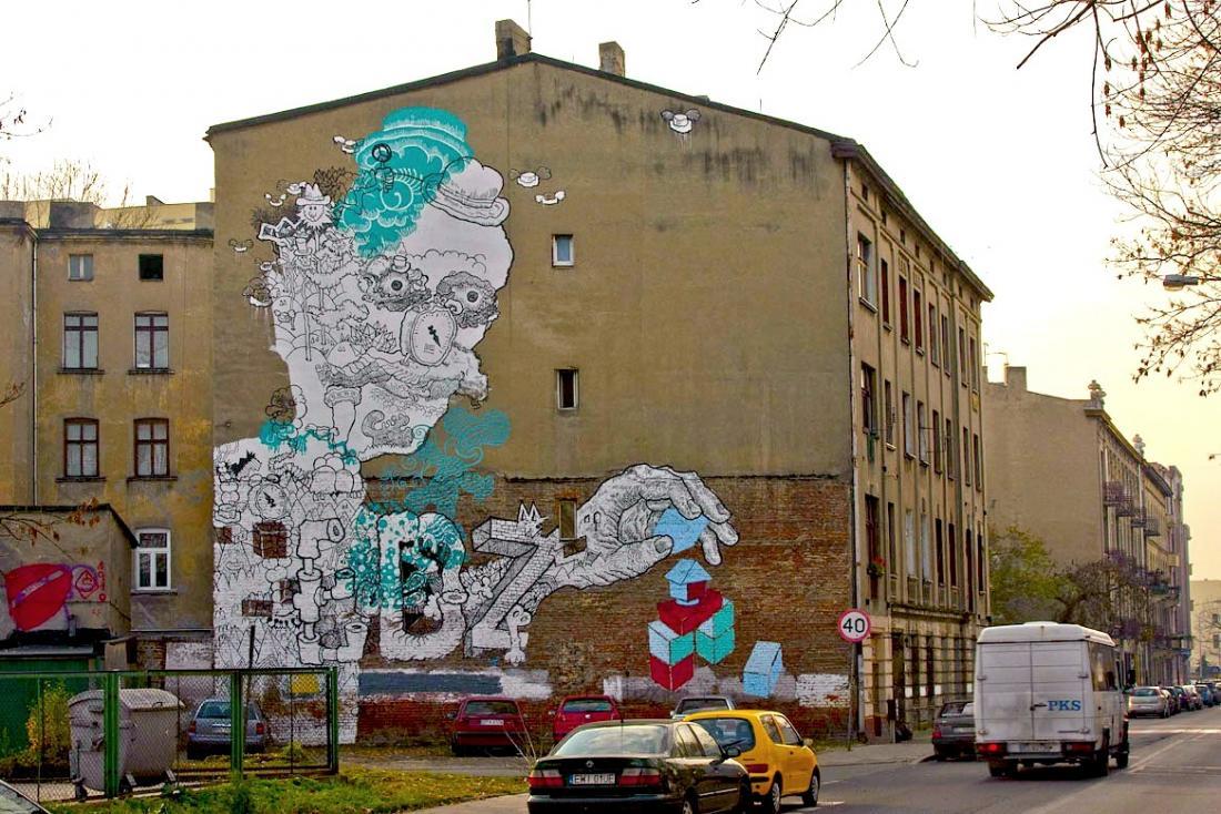 7 Galeria Urban Art форм в Лодзи, Польша.  Грегор