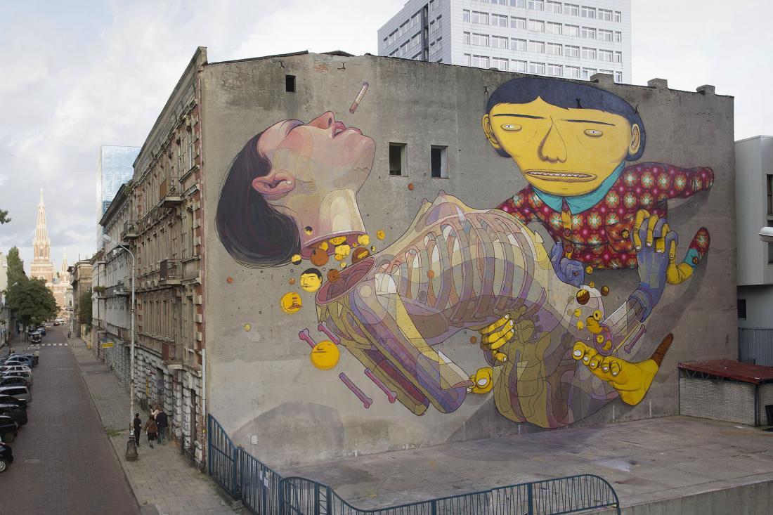 14 Galeria Urban Art форм в Лодзи, Польша.  По Os Gemeos и Aryz