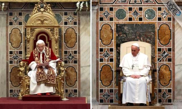 Pope no throne