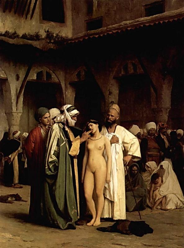 Gerome_Jean_Leon_The_Slave_Market_oil_paintings_reproduction_b