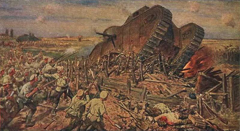 Захват врангелевских танков Красной Армией под Каховкой
