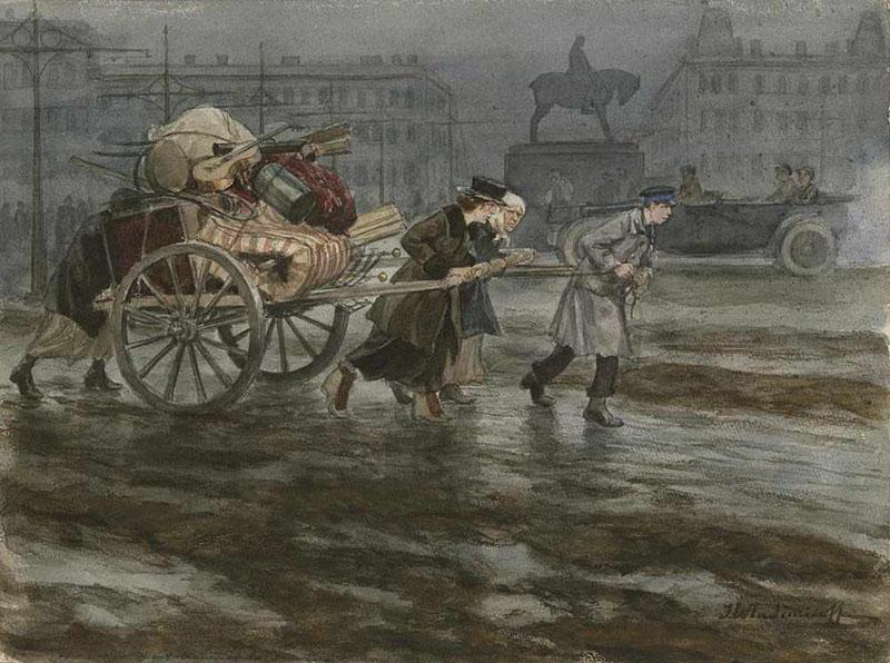 Петроград. Переезд выселенной семьи