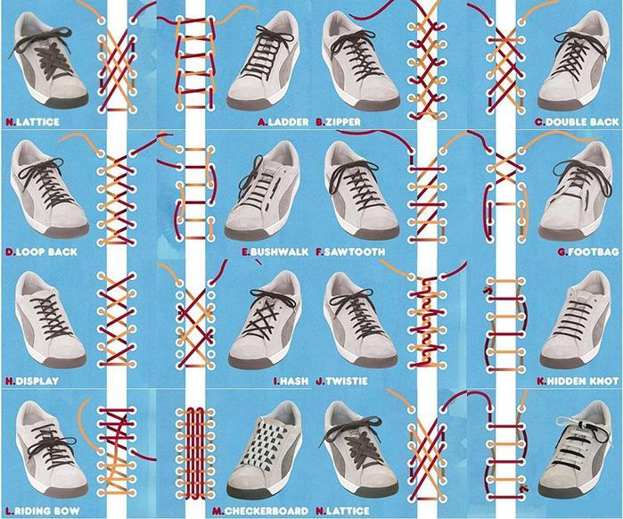 Как зашнуровать туфли 4