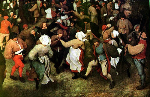 Мужицкий the-wedding-dance-in-the-open-air-pieter-brueghel