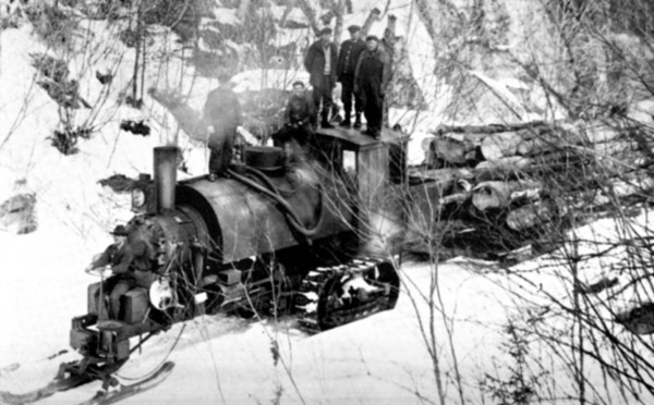 Logging loco on caterpiller tracks AND skis