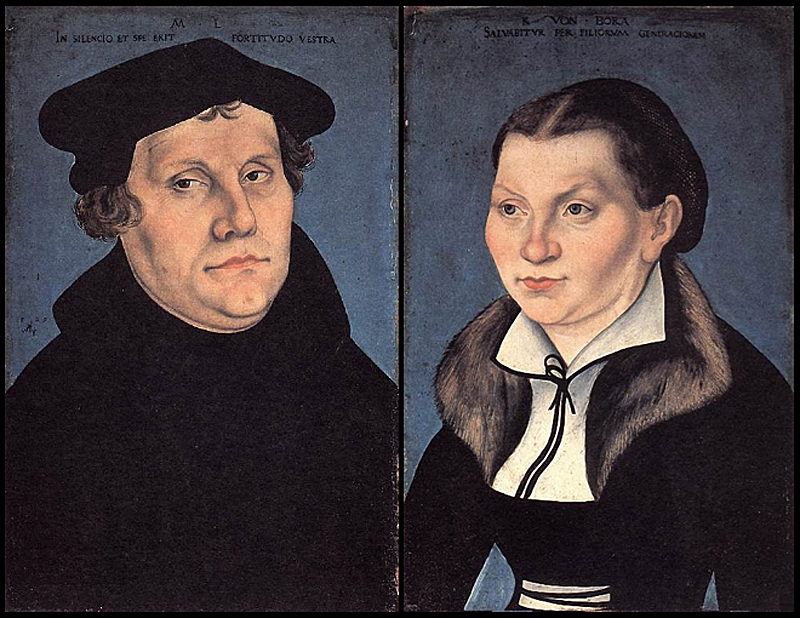 "Lucas Cranach the Elder ""Martin Luther and his wife Katharina von Bora"""