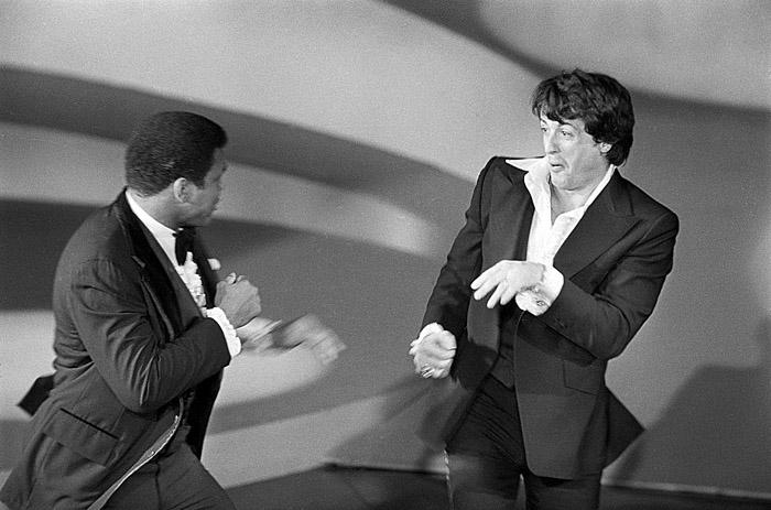Muhammad Ali challenges Rocky Balboa, Oscars, 1977 -