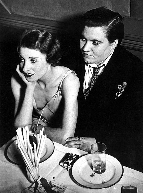 A couple at the Le Monocle lesbian nightclub. Paris, 1932