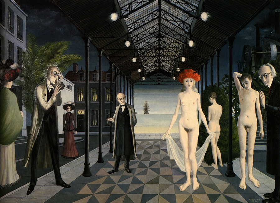 Tribute to Jules Verne — Paul Delvaux