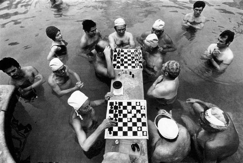 Laurence Brun. Budapest, mai 1980. Bains thérapeutiques et thermiques.