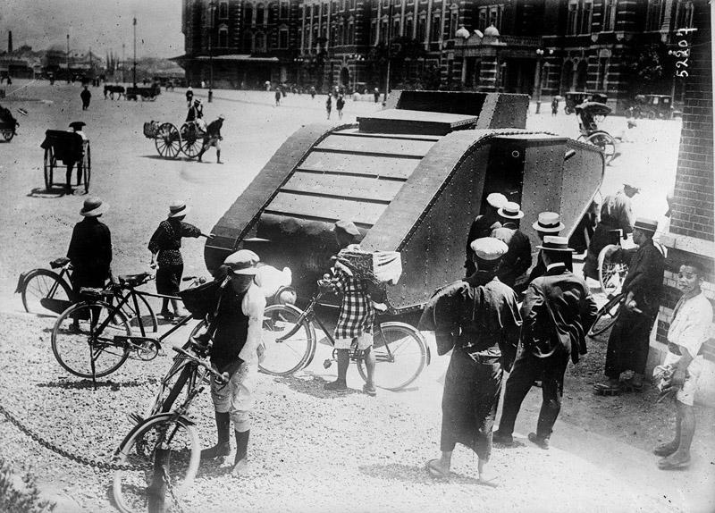 British tank in Japan1918