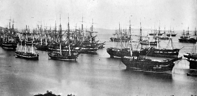 Abandoned Ships, Yerba Beuna Cove, San Francisco, between 1849-1850