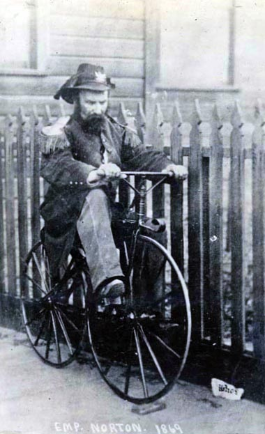 Emperor Norton in carriage of state 1869