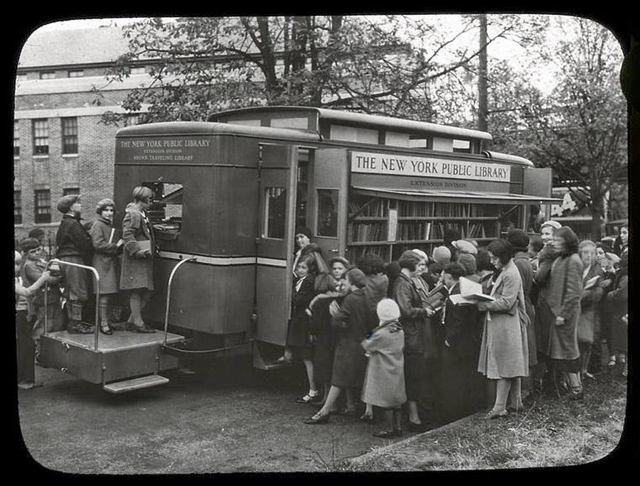 Public Library Book Wagon, New York City, ca. 1930s