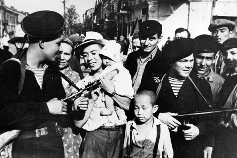 Sailors of Amur Military Flotilla in Manchuria, 1945