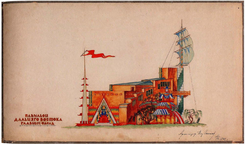 ilia-golosov-the-pavilion-of-far-east-republics-all-russian-agricultural-handicraft-and-industrial-exhibition-competition-project-1923