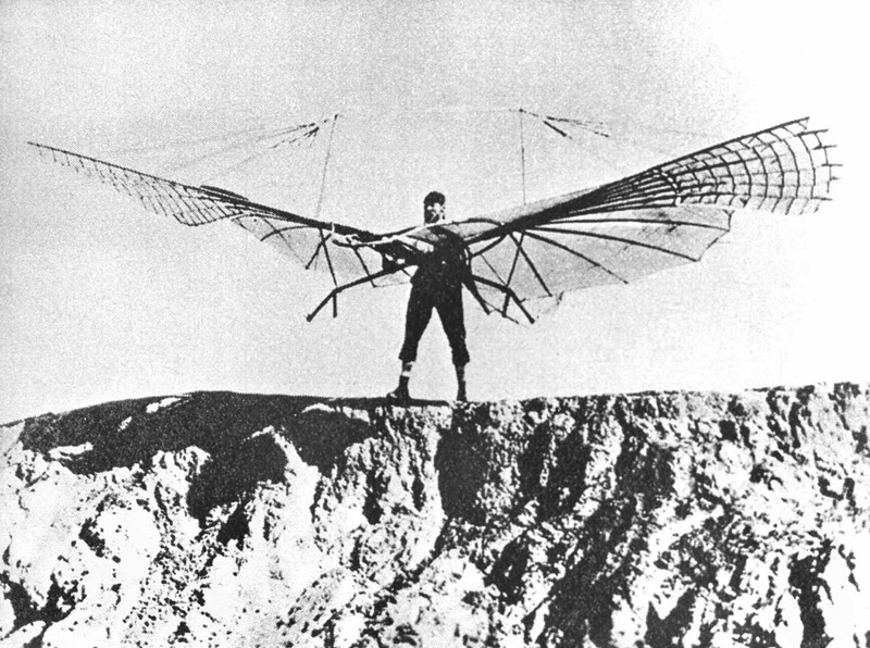 Otto Lilienthal, pionir of aviation, died in 1896 of injuries sustained when his glider stalled and he was unable to regain control; falling from about 15 m - fractured his neck.