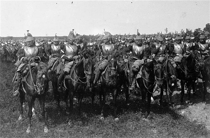French cuirassiers, 1914