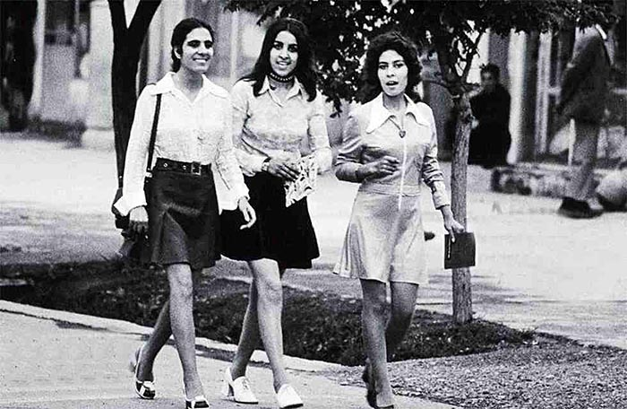 Young women in Kabul, Afghanistan, 1972