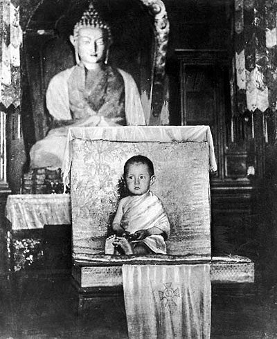 The Dalai Lama at age two. 1937