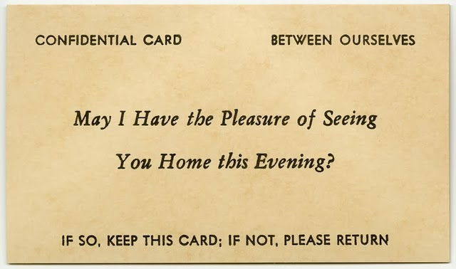 Vintage Acquaintance Cards from the Mid-20th Century (36)