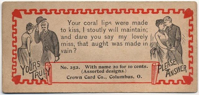Vintage Acquaintance Cards from the Mid-20th Century (25)