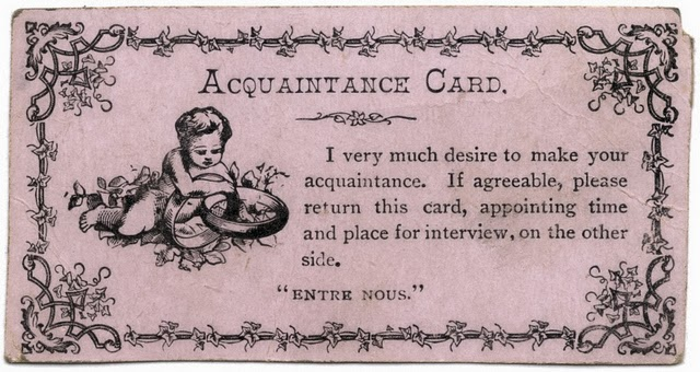 Vintage Acquaintance Cards from the Mid-20th Century (4)