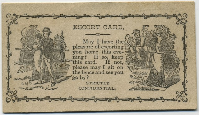 Vintage Acquaintance Cards from the Mid-20th Century (1)