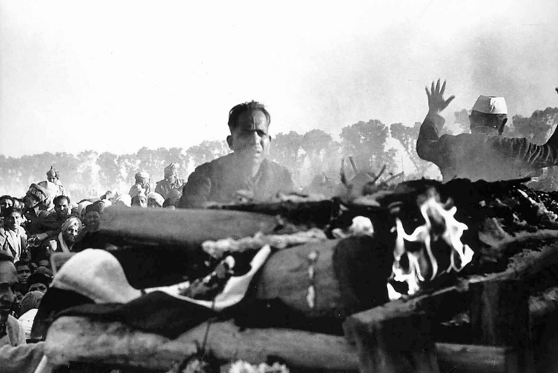 The Cremation of Gandhi. By Henri Cartier Bresson. 1948.