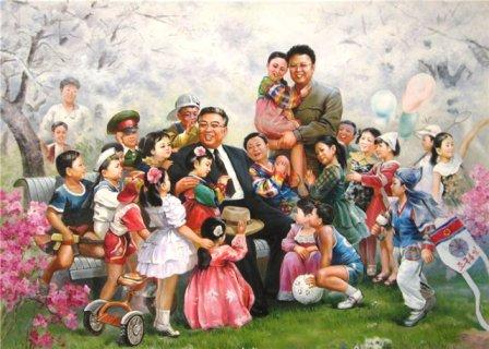 kim_jong_il_with_his_father