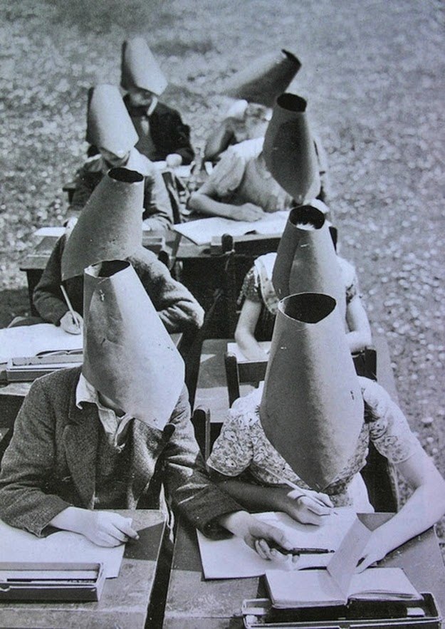 School anti-cheating hats