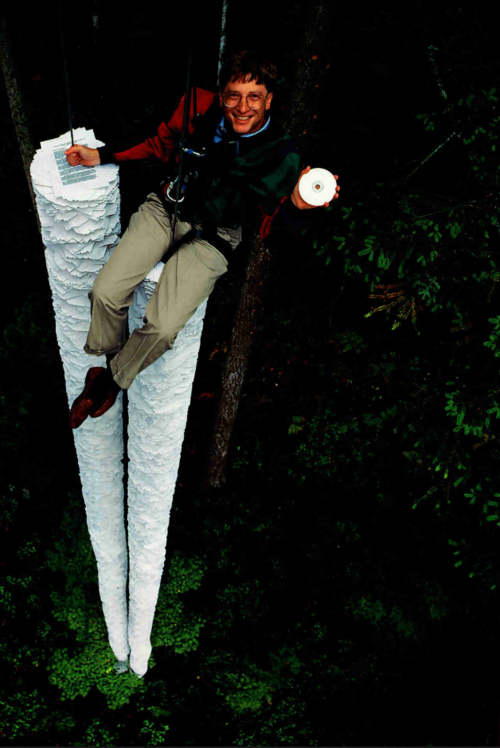 "This CD-ROM can hold more information than all the paper that's here below me\""- Bill Gates,1994"