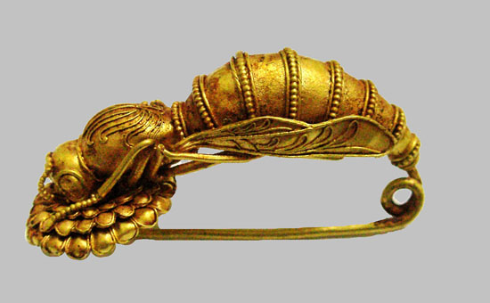 Greek Bee Fibula, 4th century BC