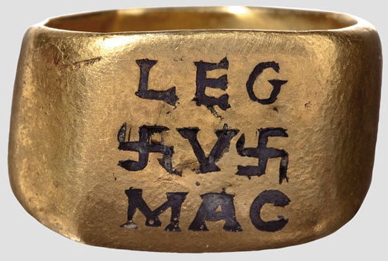 5th Legion Roman Gold Officer's Ring, 2nd-3rd Century AD