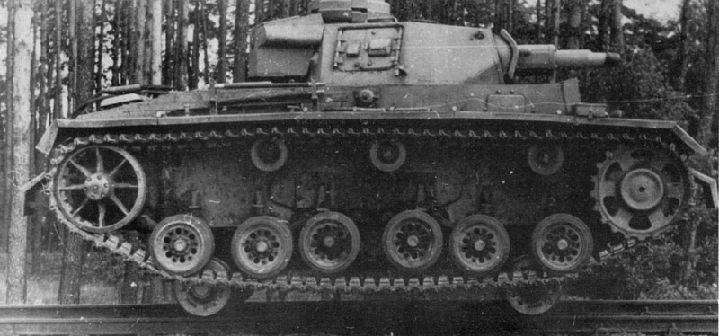 A rail-mounted Panzer III, one of a handful built to patrol train tracks on the Eastern Front 1943