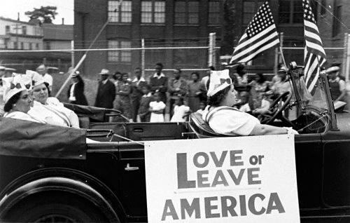 Walker Evans - Bridgeport Parade - Bridgeport's Italian Women Insist Upon Their Patriotism, 1941
