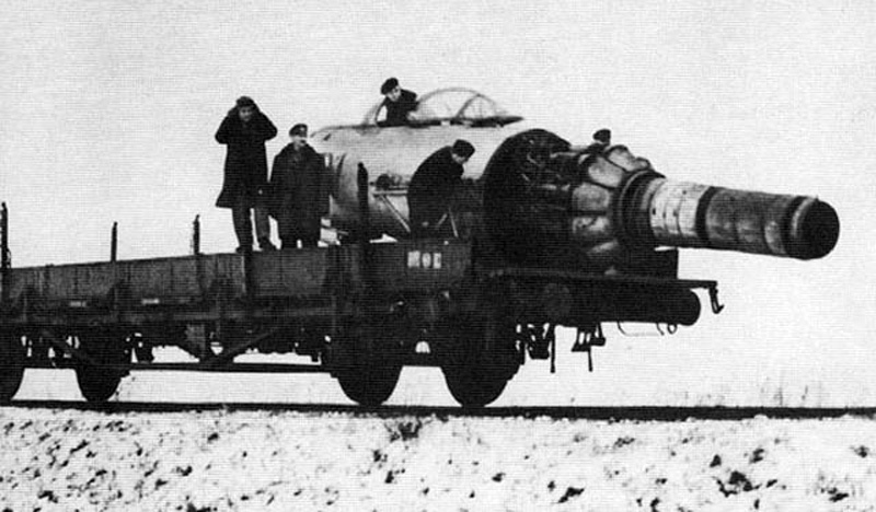 Polish State Railways used MiG-15 airplanes to clear snow off of and to de-ice railroad tracks during the 1960's