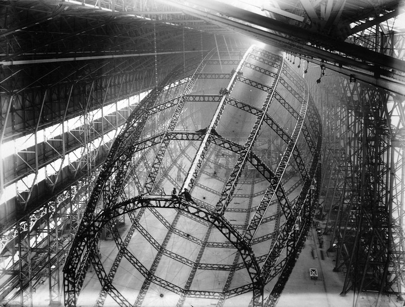 British Airship R-100 Under Construction at Howden, 1927