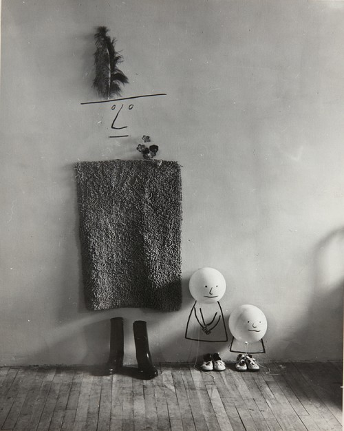 Saul Steinberg- Untitled [Mother and Children], 1950