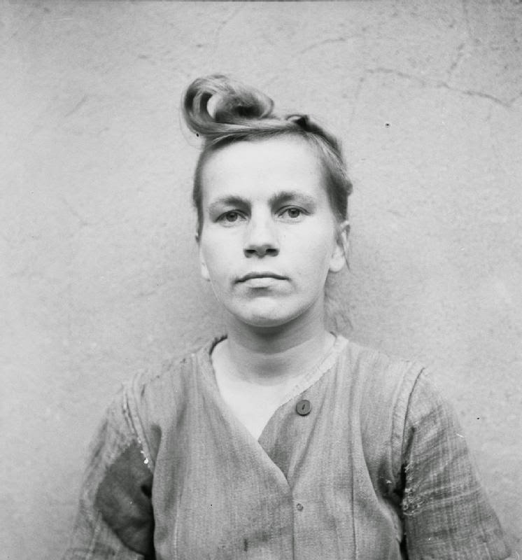 Elizabeth Volkenrath head wardress of the camp sentenced to death. She was hanged on 13 December 1945