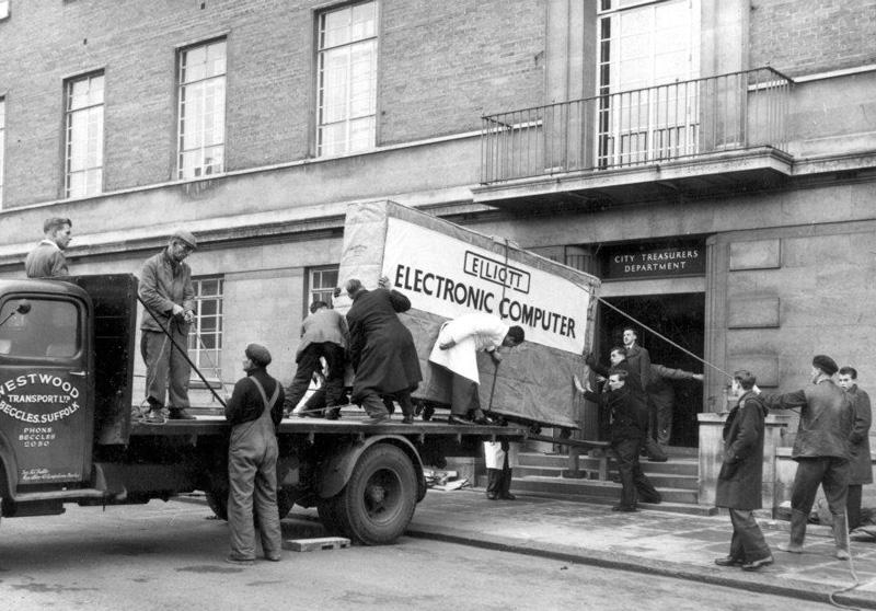 Elliott 405 computer, Norwich, Great Britain, 1957