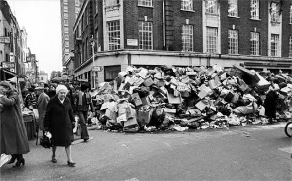 London. 1979 sanitation strike.