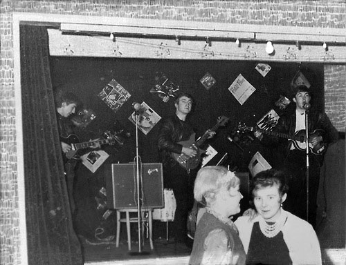 Rare photo of The Beatles playing to 18 People in Aldershot, England, December 1961