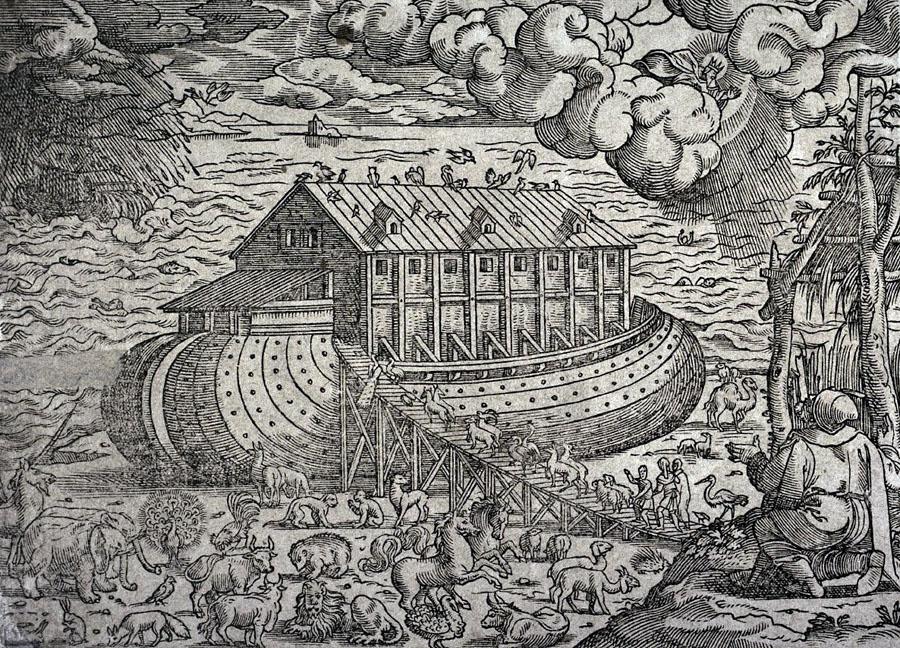 Jost Amman (1539-1591), Noah's Ark (Woodcut print), Zurich