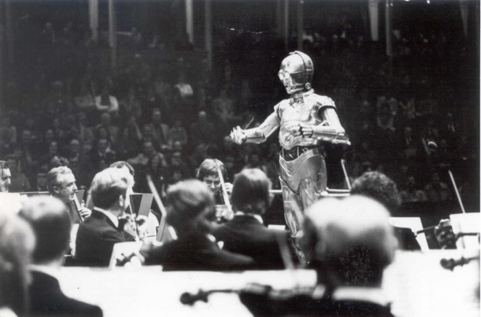 Conducting John William's Star Wars with the London Symphony Orchestra at the Royal Albert Hall, 1978