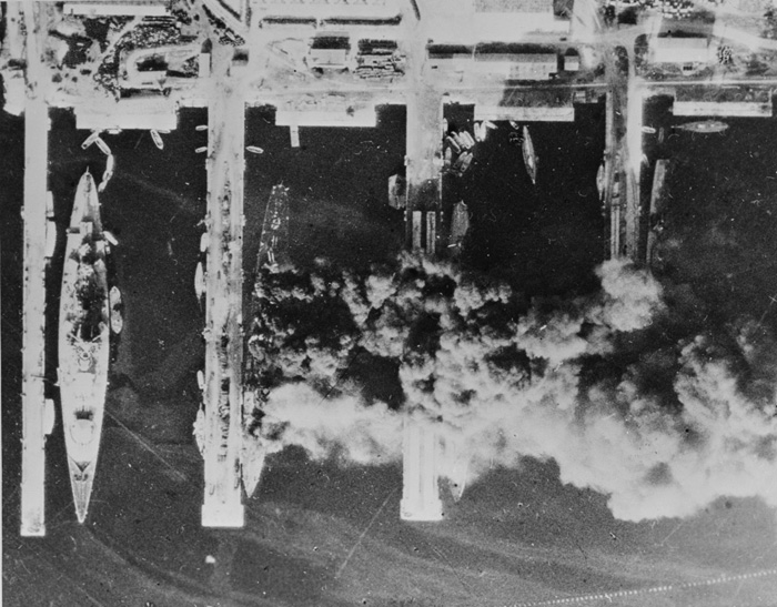Scuttled French fleet at Toulon, France 28 November 1942