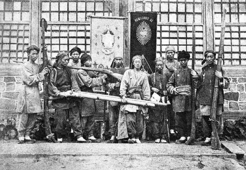Christian Mongolians, North of China with new weapons, later 1800s early 1900s