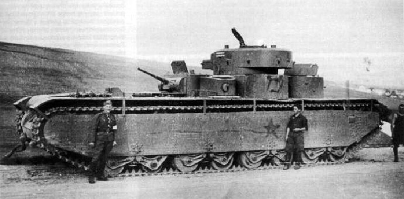 Captured Soviet T-35 1941